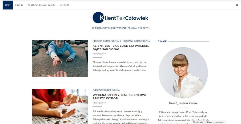 strony internetowe dla firmy przykład strony na szablonie WordPress - po dostosowaniu