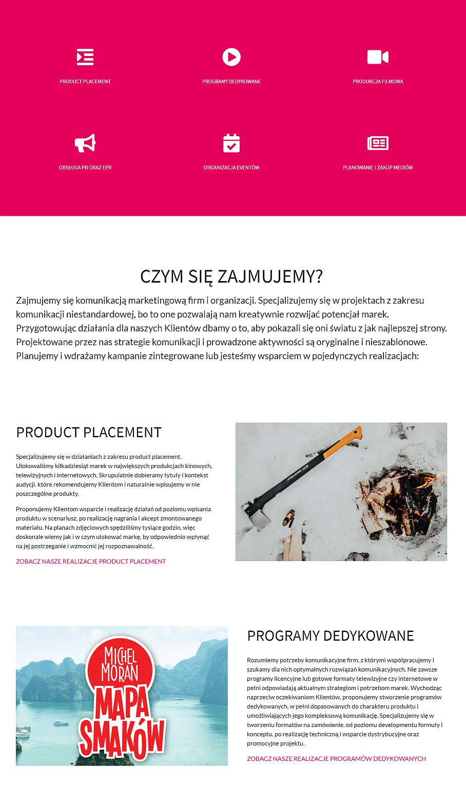 nowa strona firmowa opis usług