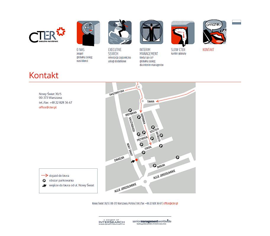 strona internetowa dla firmy cter - stara strona