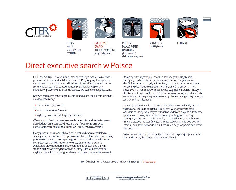 strona internetowa dla firmy cter - stara strona oferta