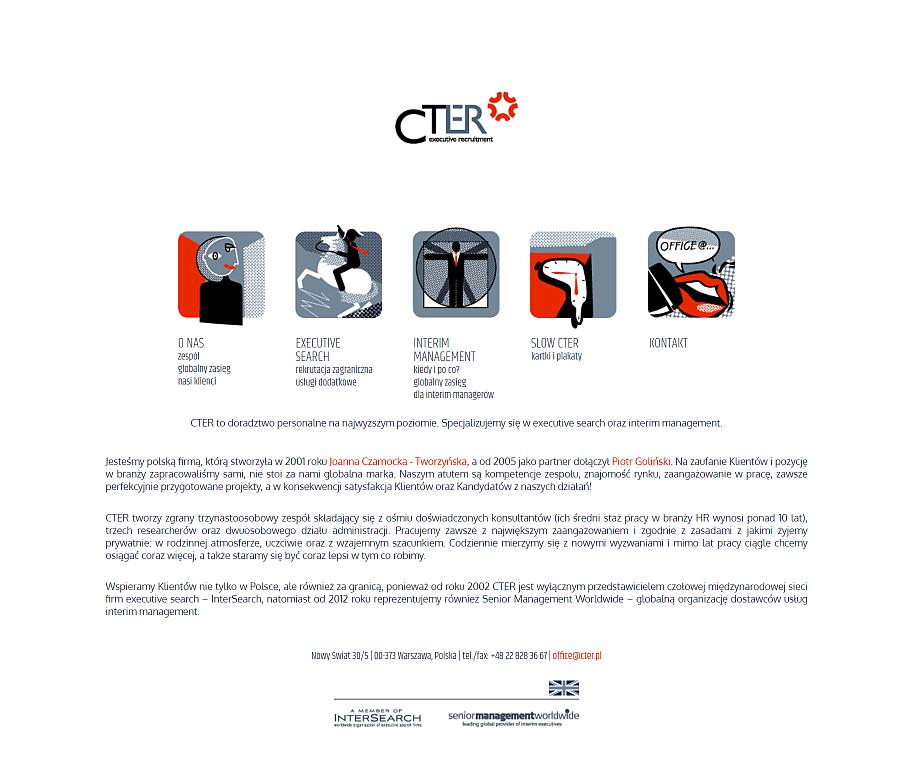 strona internetowa dla firmy cter - stara strona glowna
