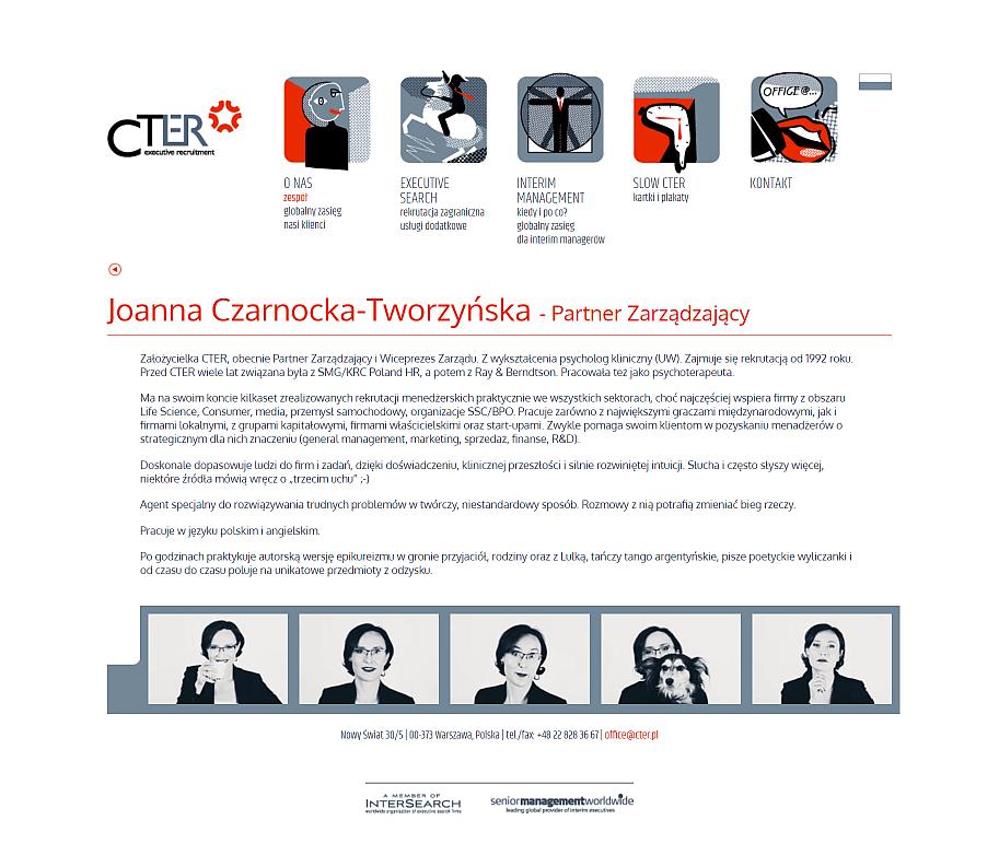 strona internetowa dla firmy cter - stara strona osoby